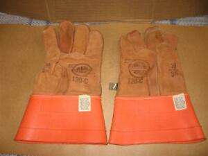 Salisbury Linemans Rubber Gloves Leather Gloves Not Tested Canvas Storage Bag
