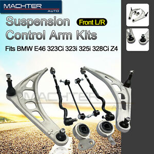 Suspension Kit For E46 3 Series Lower Control Arms Tie Rod Ends Sway Bar Links