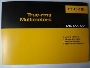 New Fluke 175 177 177 Multimeters Users Manual