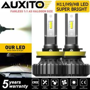 Auxito H11 H8 Led Headlight Kit Low Beam Bulb Super Bright 6000k 20000lm Canbus