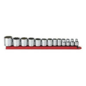 Gearwrench 80561 3 8 In Drive Sae 12 point Standard Socket Set 13 piece