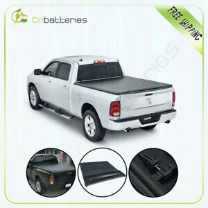 For 2009 2019 Ram 1500 2500 3500 5ft 8in Tonneau Cover Bed Soft Tri F