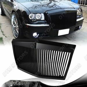 For 2005 2010 Chrysler 300 300c Abs Black Vertical Phantom Style Front Grille