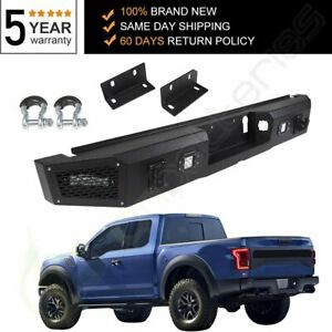 Us New Steel Guard Rear Bumper For Ford F150 2015 2020 Car Pickup W Winch