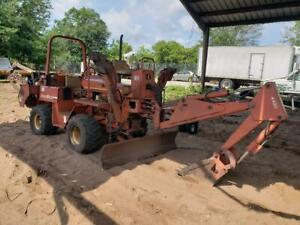 Ditch Witch 5110 Ride On Trencher With Backhoe And 6 Way Blade 4wd 4w Steering