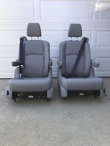Gray Leather Bucket Seat For Mercedes Sprinter Van Conversion Rv Motorhome