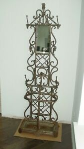 Large Vintage Victorian Style Cast Iron Hall Tree Coat Stand 80