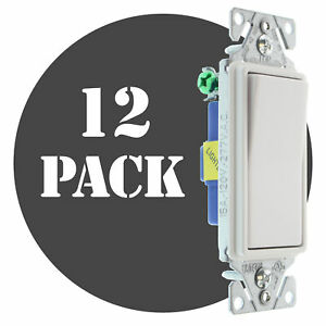 Hubbell Rsd115ilwz Lighted Decorator Switch 1 p 15a 120 277v White 12 pk