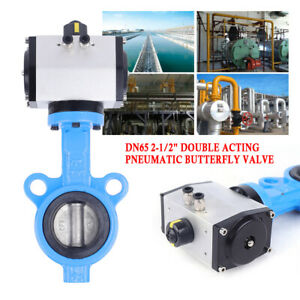 Pneumatic Butterfly Valve Dual Action Type A Body W Pneumatic Actuator