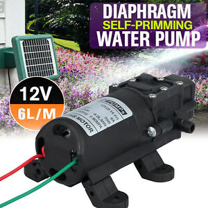 12v Dc Water Pump 70w 130psi High Pressure Micro Diaphragm With Automatic Switch