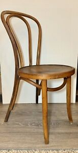 Vintage 1984 Bentwood Cognac Brown Mid Century Wood Thonet Cafe Dining Chair