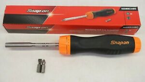 New Snap on Sgdmrc44bo Ratcheting Soft Grip Screwdriver Orange