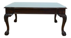 49261ec Ball Claw Mahogany Square Coffee Cocktail Table