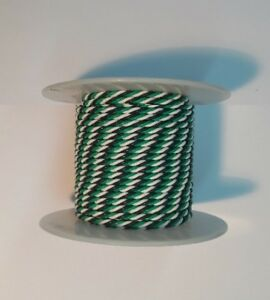 22 Awg Ul1213 Ptfe Hook up Wire Black white green Twisted Triple 50 Foot Spools