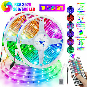32FT Flexible 3528 RGB LED SMD Strip Light Remote Fairy Lights Room TV Party Bar $19.97