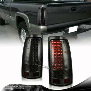 For 1999 2006 Chevy Silverado 1500 2500 3500 Smoked Lens Led Tail Lights Lamps