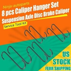 8 Pieces Brake Caliper Hangers Hook Rubber Tips For Automotive Tool Use In Axle