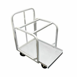 Full Size Aluminum Sheet Pan Truck With 4 Of 5 Swivel Casters Comes In Set
