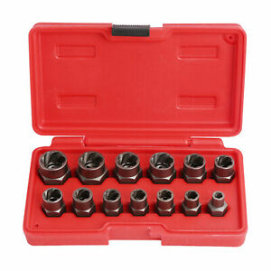 Bolt And Nut Extractor Set Remover Damaged Rusted Socket Impact Wrench Tools