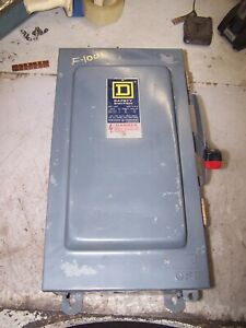 Square D 100 Amp Fused Safety Switch 600 Vac 75 Hp 3 Phase Nema 3r H363awk