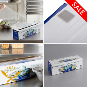 Stretch tite Plastic Food Wrap Foodservice Film With Slide Cutter 18in X 2000ft