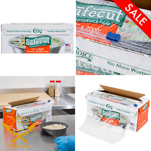 Stretch tite Plastic Food Wrap Foodservice Film With Slide Cutter 12in X 2000ft