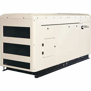 Cummins Commercial Standby Generator 25 Kw Lp ng 120 240v Single phase Rs25