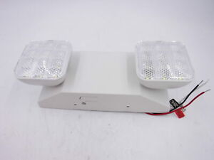 Led Emergency Exit Light Lamp Lighting Fixture Twin Square Heads Universal