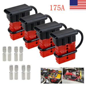 4x 175a Car Quick Connector Winch Trailer Battery Connect disconnect Plug Pin Us