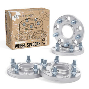 4pc 15mm Thick Hubcentric Wheel Spacers 5x114 3 64 1mm Bore 12x1 5 Studs