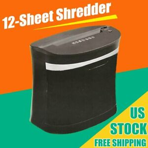 Commercial Paper Shredder Heavy Duty Home Office Cross Cut Credit Card 12 Sheet