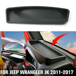 Car Front Dashboard Storage Box Tray Trim Accessories Fit For Jeep Wrangler Jk