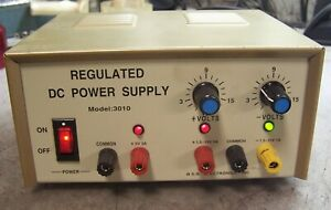 Rsr Electronics 3010 Regulated Dc Power Supply 3 Dc Outputs 120 Vac 5 Vdc