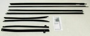 1969 1970 Impala 2 Door Hardtop Window Beltline Weatherstrip Kit 8 Pieces