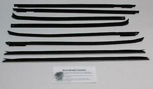 1969 1970 Chevy Impala 4 Door Hardtop Window Beltline Weatherstrip Kit 8 Pieces