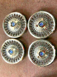 1965 1966 Ford Mustang 14 Wire Wheel Covers Hubcaps Nice May Fit Others