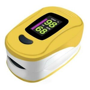 Facelake Fl400 Pulse Oximeter With Carry Case And Batteries Yellow Sealed