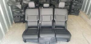 2020 Ford Explorer Black Leather Second Row Seats