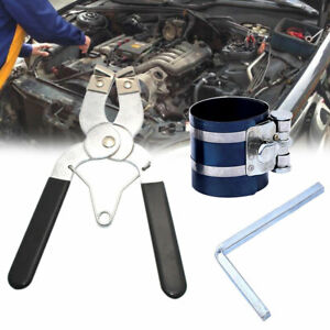 2set Durable Ratchet Style Piston Ring Compressor Installer Pliers Engine Tool