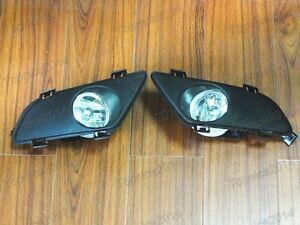 1 Pair Clear Bumper Driving Fog Light Lamps For Mazda 6 2003 2005