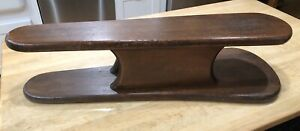Double Sided Tabletop Ironing Board Antique Primitive Rustic Solid Wood 30 X8 5