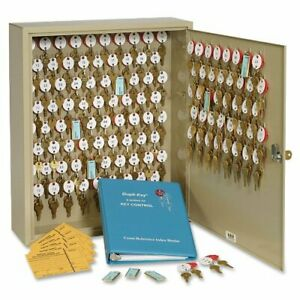 Mmf 120 key Wall Cabinet 16 5 X 5 X 20 5 Steel Security Lock Sand