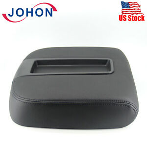 Black Console Lid Center Armrest Cover For Gmc Yukon Xl 1500 2500 2007 2013