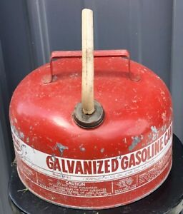 Galvanized Vintage Eagle 2 1 2 Gallon Metal Gas Can Lawn Mower Engine Outboard