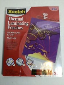 3m Scotch Thermal Laminating Pouches Size 8 5 X 11 50 Pack New Photo Safe