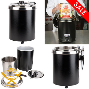 6 Qt Commercial Electric Soup Warmer Food Chili Nacho Cheese Restaurant Black