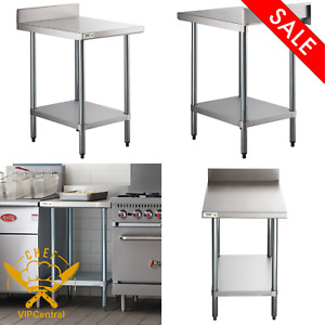 30in X 24in Stainless Steel Work Prep Shelf Table Commercial Restaurant Durable