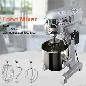Stainless Steel Blender Commercial 3 Speed Dough Food Mixer 600w 4 5p 15qt