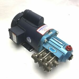 Cat Pumps 2sf10seel Plunger Pump Head With Leeson 1 Hp Motor Max Flow 1gpm