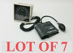 Welch Allyn Tycos Wall Mount Bp Aneroid Sphygmomanometer Gauge W cuff Lot 7